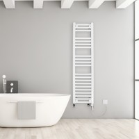 Chelmsford 600w Electric Ladder towel rail in situe