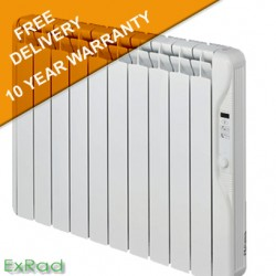 exRad Electric Radiators E10 PLUS 1250 Watt Slim Digital Oil Filled Radiator