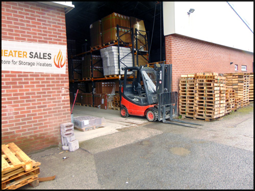 Storage heater sales Warehouse from outside